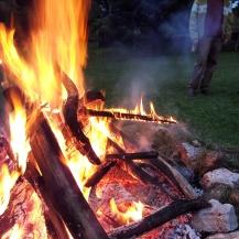 pre house concert bonfire
